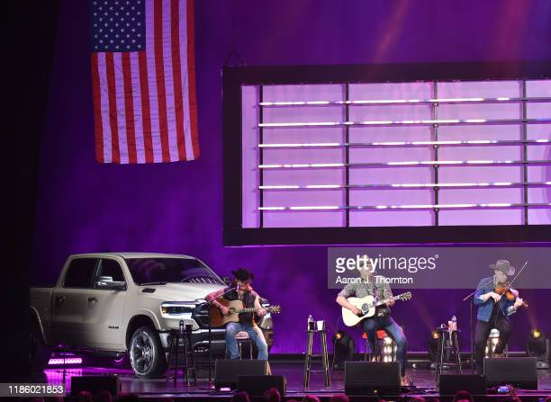 "Jon Pardi performs on stage during ""Stars and Strings Presented by RAM Trucks Built to Serve,"" a RADIO.COM Event, at the Fox Theatre on November 06,..."