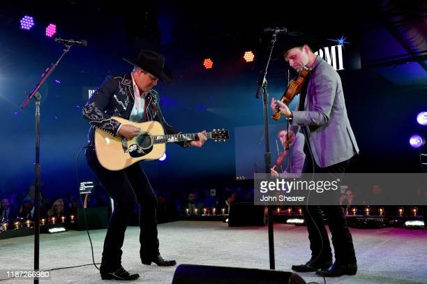 Jon Pardi performs onstage as BMI presents Dwight Yoakam with President's Award at 67th Annual Country Awards Dinner at BMI on November 12 2019 in...