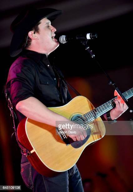 Jon Pardi performs onstage at New Faces of Country Music Dinner Performance Sponsored by ACM St Jude Children's Research Hospital   Performances...