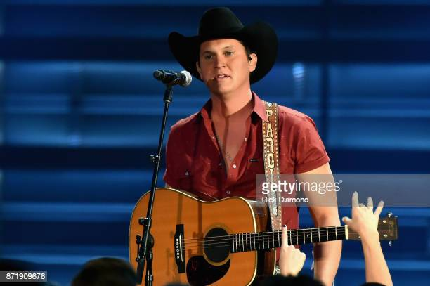 Jon Pardi performs onstage at the 51st annual CMA Awards at the Bridgestone Arena on November 8 2017 in Nashville Tennessee