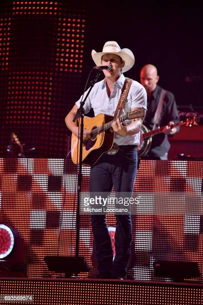 Jon Pardi performs onstage during the 2017 CMT Music Awards at the Music City Center on June 6 2017 in Nashville Tennessee