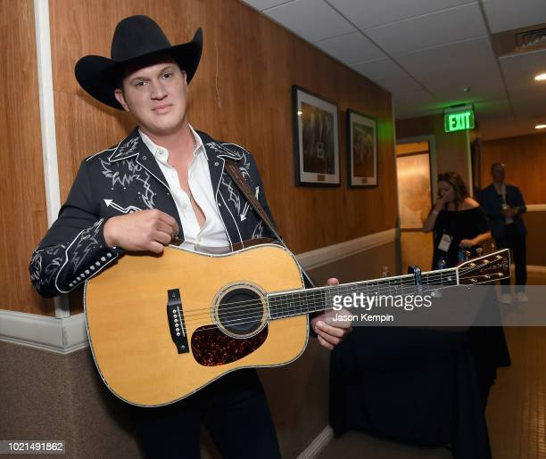 Jon Pardi takes photos during the 12th Annual ACM Honors at Ryman Auditorium on August 22 2018 in Nashville Tennessee