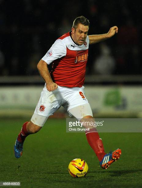 Jon Parkin of Fleetwood Town in action during the Johnstone's Paint Northern Area Final between Fleetwood Town and Chesterfield at Highbury Stadium...
