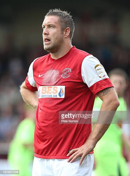 Jon Parkin of Fleetwood Town in action during the npower League Two match between Fleetwood Town and Northampton Town at Highbury Stadium on...