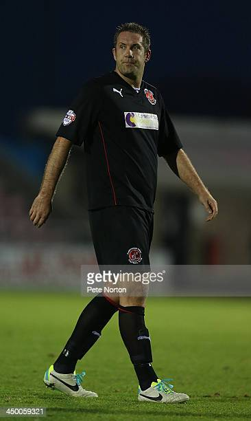 Jon Parkin of Fleetwood Town in action during the Sky Bet League Two match between Northampton Town and Fleetwood Town at Sixfields Stadium on...