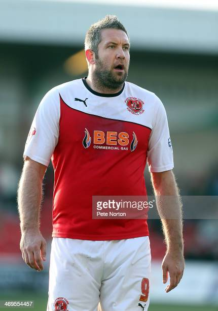 Jon Parkin of Fleetwood Town in action during the Sky Bet League Two match between Fleetwood Town and Northampton Town at Highbury Stadium on...