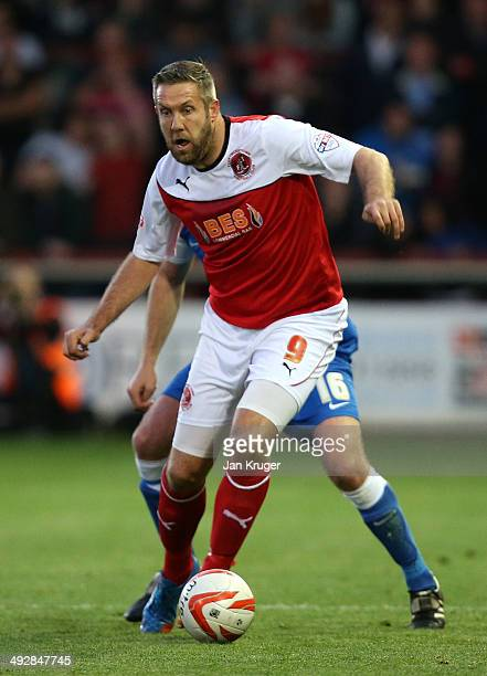 Jon Parkin of Fleetwood Town in action during the Sky Bet League Two play off Semi Final second leg match between Fleetwood Town and York City at...