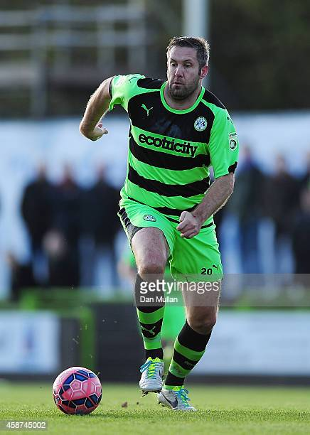 Jon Parkin of Forest Green Rovers in action during the FA Cup first round match between Forest Green Rovers and Scunthorpe United at The New Lawn on...