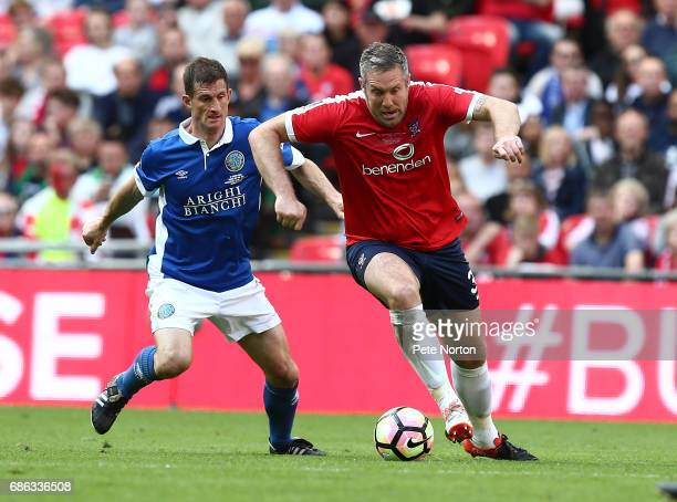 Jon Parkin of York City moves forward with the ball during The Buildbase FA Trophy Final between York City and Macclesfield Town at Wembley Stadium...