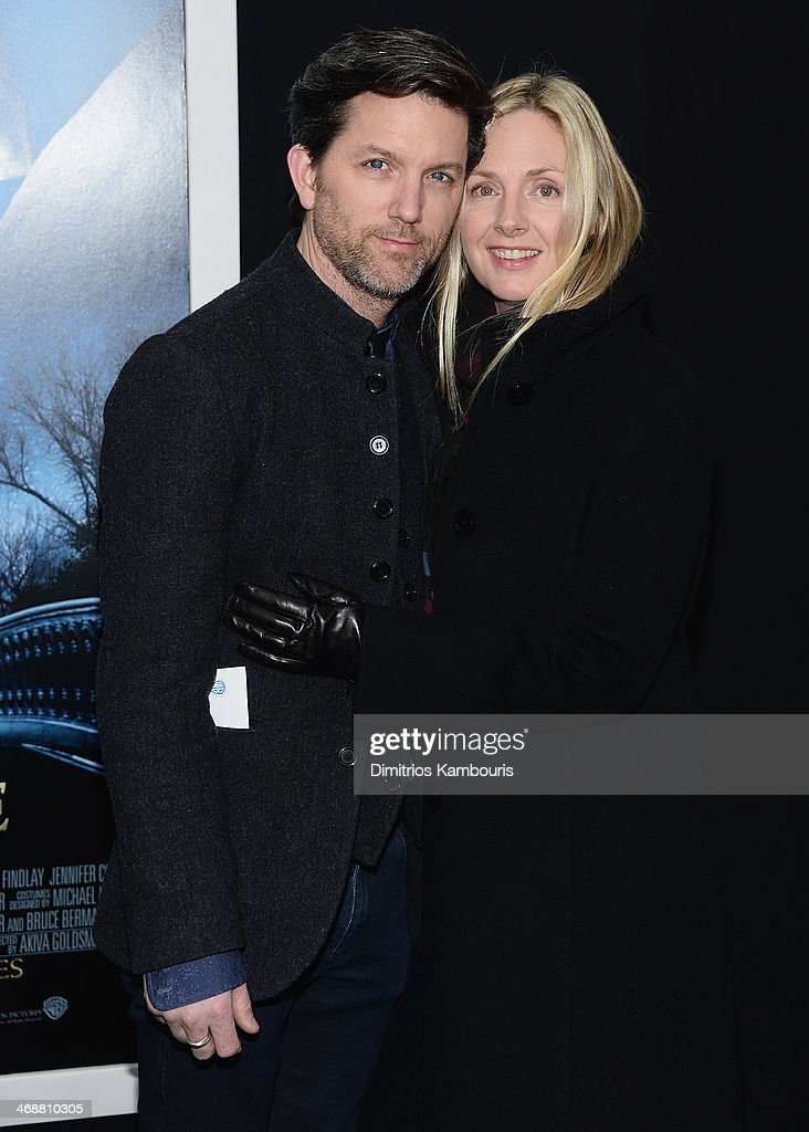 Jon Patrick Walker and Hope Davis attends the 'Winter's Tale' world premiere at Ziegfeld Theater on February 11, 2014 in New York City.