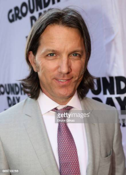 Jon Patrick Walker poses at the opening night of the new musical based on the film Groundhog Day on Broadway at The August Wilson Theatre on April 17...