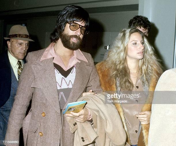Jon Peters and Barbra Streisand during Barbra Streisand Sighting in New York City October 1 1975 at JFK Airport in New York City United States