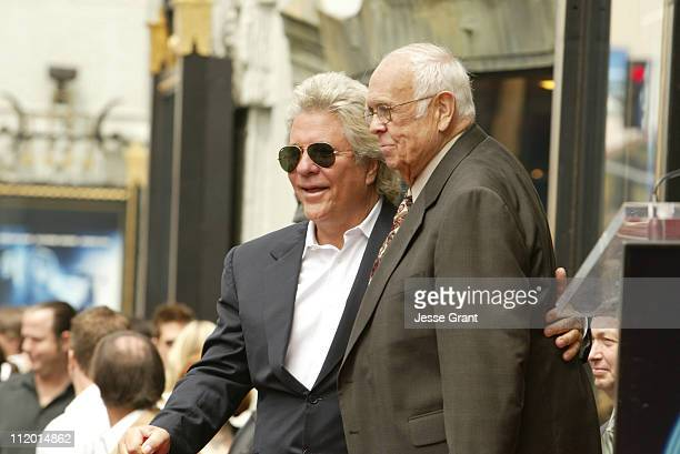 Jon Peters and Johnny Grant during Jon Peters Recieves a Star on the Walk of Fame at Walk of Fame in Hollywood CA United States