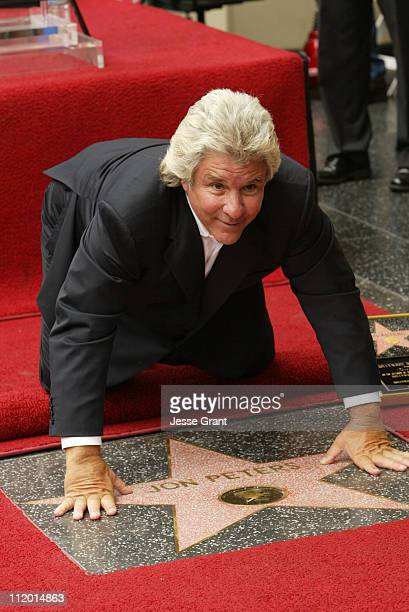 Jon Peters during Jon Peters Recieves a Star on the Walk of Fame at Walk of Fame in Hollywood CA United States