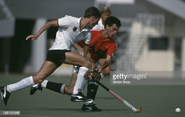 Jon Potter of Great Britain during the Men's Field Hockey final against Germany on 1st October 1988 at the XXIV Summer Olympic Games at the Seongnam...