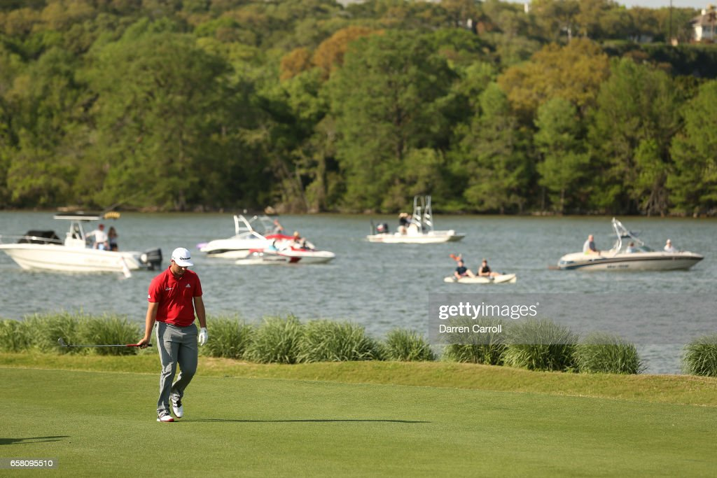 Jon Rahm of Spain walks on the 13th hole during the final match of the World Golf Championships-Dell Technologies Match Play at the Austin Country Club on March 26, 2017 in Austin, Texas.