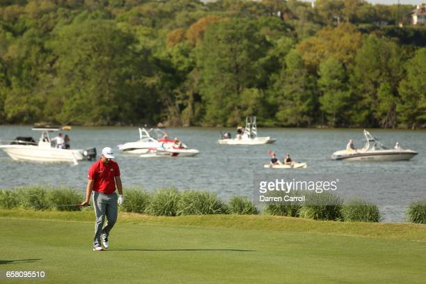 Jon Rahm of Spain walks on the 13th hole during the final match of the World Golf Championships-Dell Technologies Match Play at the Austin Country...