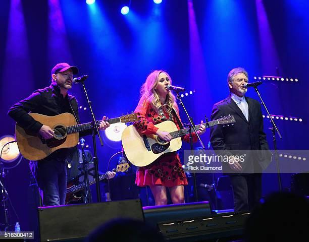 Jon Randall Jessi Alexander and Larry Gatlin perform at The Life Songs of Kris Kristofferson produced by Blackbird Presents at Bridgestone Arena on...