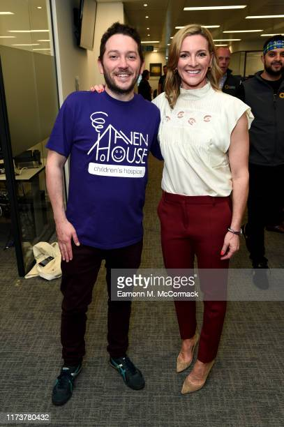 Jon Richardson and Gabby Logan attend the Sunrise Charity Day on September 11 2019 in London England