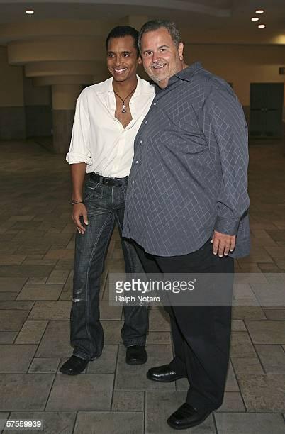"""Jon Secada and Raul de Molina attend the """"Poseidon"""" screenng VIP Gala on May 8, 2006 in Miami, Florida."""