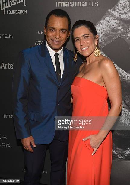 Jon Secada and wife Maritere Secada at Latin Songwriters Hall Of Fame La Musa Awards Miami Beach FL on October 13 2016