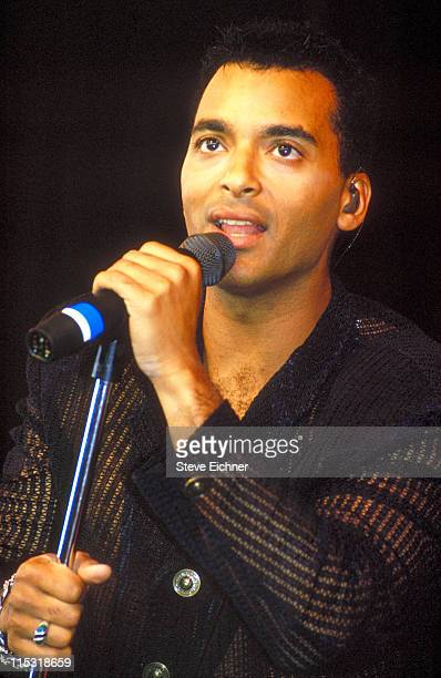 Jon Secada during KISS FM Benefit Concert at Great Woods Amphitheater June 4 1994 at Great Woods Amphitheater in Mansfield Massachusetts United States
