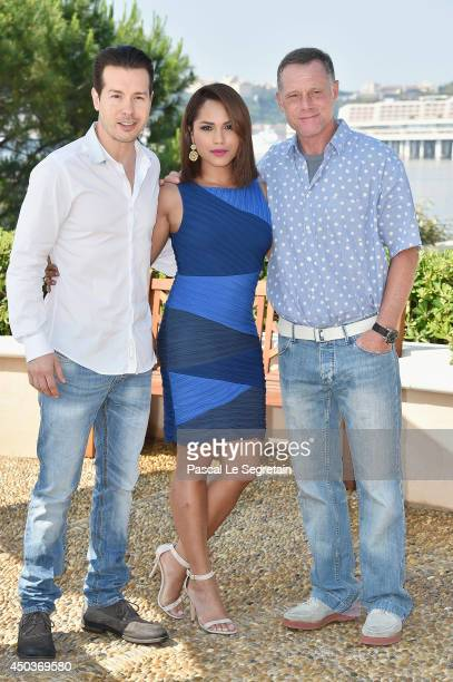 Jon Seda Monica Raymund and Jason Beghe attend a photocall for the TV Show ' Chicago Fire' as part of the 54th MonteCarlo Television Festival on June...