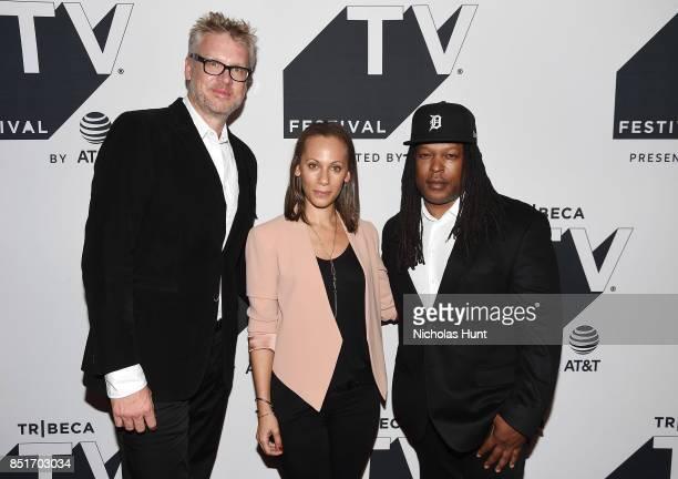 Jon Sinclair Keayr Braxton and Shaka Senghor attend the Tribeca TV Festival series premiere of Released at Cinepolis Chelsea on September 22 2017 in...