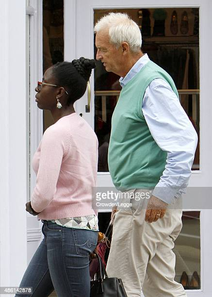 Jon Snow and his wife Precious Lunga sighted on August 28 2015 in London England