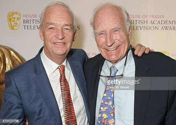 Jon Snow and Peter Snow attend a lunch to celebrate Jon Snow being awarded the BAFTA Fellowship at the Corinthia Hotel London on May 7 2015 in London...