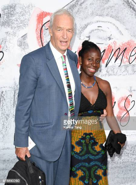 Jon Snow and Precious Lunga attend the Serpentine Gallery Summer Party at The Serpentine Gallery on June 19 2018 in London England