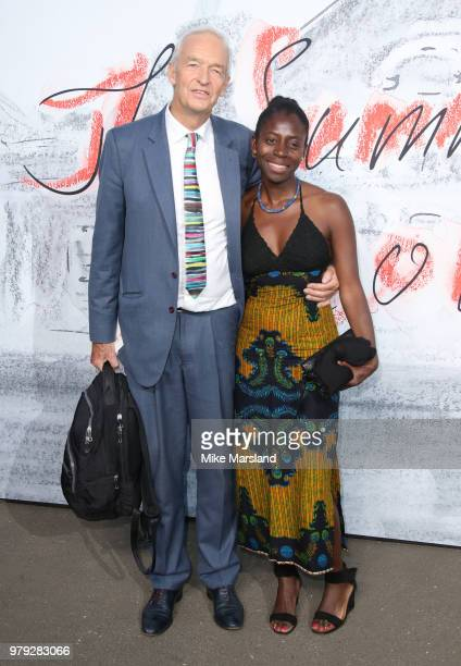 Jon Snow and Precious Lunga attend The Serpentine Summer Party at The Serpentine Gallery on June 19 2018 in London England