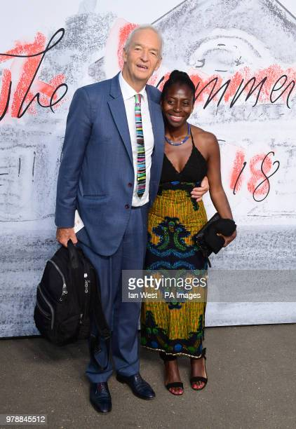 Jon Snow and Precious Lunga attending the Serpentine Summer Party 2018 held at the Serpentine Galleries Pavilion Kensington Gardens London