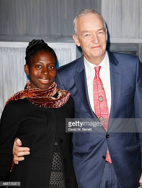 Jon Snow and wife Precious Lunga arrive at a party hosted by Instagram's Kevin Systrom and Jamie Oliver This is their second annual private party...