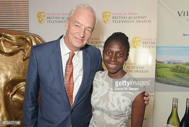 Jon Snow and wife Precious Lunga attend a lunch to celebrate Jon Snow being awarded the BAFTA Fellowship at the Corinthia Hotel London on May 7 2015...