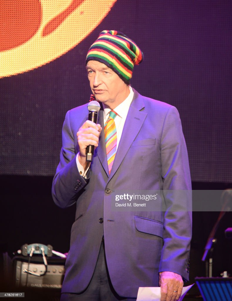 Jon Snow speaks at 'A Night of Reggae' hosted by Helena Bonham Carter for Save The Children UK at The Roundhouse on March 12, 2014 in London, England.