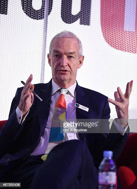 Jon Snow speaks at the Dennis Publishing Presents The Heart of England seminar during Advertising Week Europe on March 23 2015 in London England