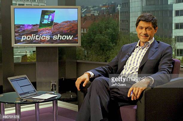 Jon Sopel on the set of BBC news and current affairs programme The Politics Show
