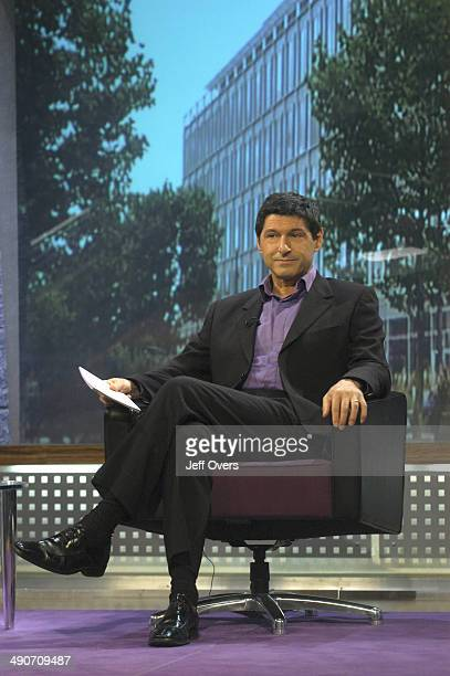 Jon Sopel sitting on the set of the BBC current affairs programme The Politics Show The show is transmitted Sunday lunchtime