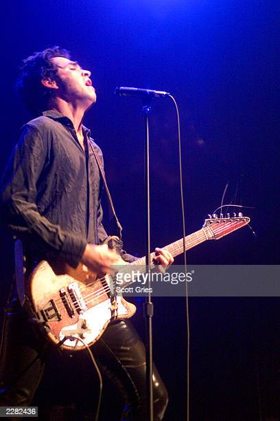 Jon Spencer Blues Explosion performs during New Yorkers Against Violence at the Hammerstein Ballroom in New York City All profits raised from the...