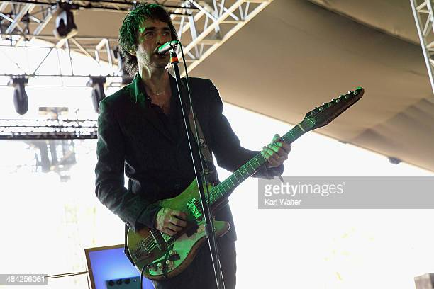Jon Spencer of The Jon Spencer Blues Explosion performs onstage during day 1 of the 2014 Coachella Valley Music Arts Festival at the Empire Polo Club...