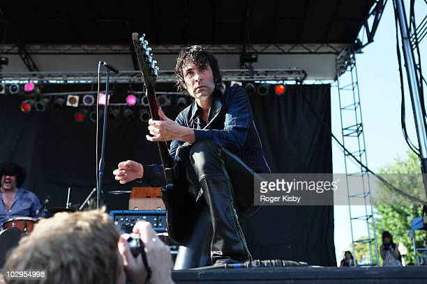 Jon Spencer of The Jon Spencer Blues Explosion performs onstage during the 2010 Pitchfork Music Festival at Union Park on July 17 2010 in Chicago...