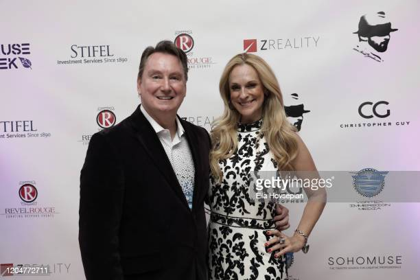 Jon Spurlock and Consuelo Vanderbilt Costin at the LA Launch Event Of SohoMuse at Christopher Guy West Hollywood Showroom on February 07 2020 in West...