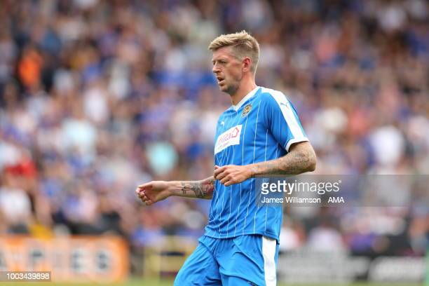 Jon Stead of Notts County during the preseason match between Notts County and Leicester City at Meadow Lane on July 21 2018 in Nottingham England