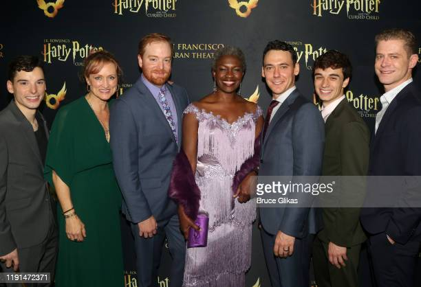 Jon Steiger Angela Ree David Abeles Yanna McIntosh John Skelley Benjamin Papac and Lucas Hall pose at the opening night after party for Harry Potter...
