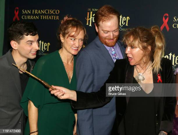 Jon Steiger Angela Reed David Abeles and Producer Sonia Friedman pose at the opening night after party for Harry Potter and The Cursed Child Parts...