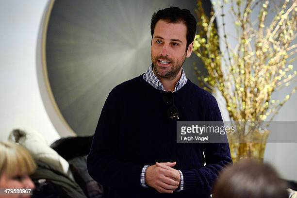Jon Steinberg speaks during DuJour's Haley and Jason Binn and Marcy Warren Welcome Malo's John Wilson in Aspen at The Little Nell on March 19 2014 in...