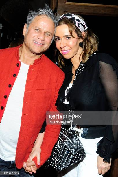 Jon Stevens and Heloise Pratt attends Global Road Entertainment With The Cinema Society Host The After Party For Hotel Artemis at Society Cafe at...