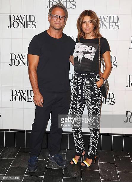Jon Stevens and Jodhi Meares arrive at the David Jones Autumn/Winter 2015 Collection Launch at David Jones Elizabeth Street Store on February 4 2015...