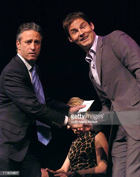 Jon Stewart and David Zinczenko editorinchief Men's Health